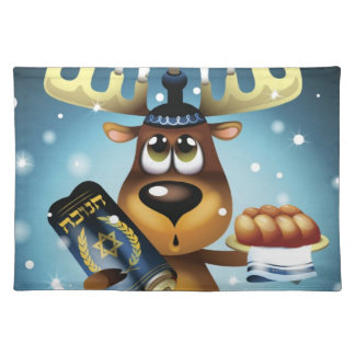 Menorah Reindeer Placemat