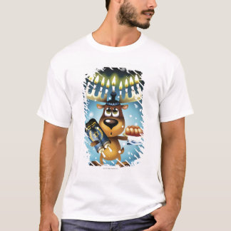 Menorah Reindeer T-Shirt