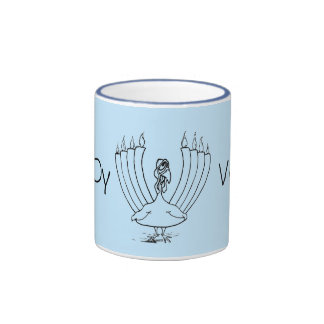 Menorah Turkey Mug