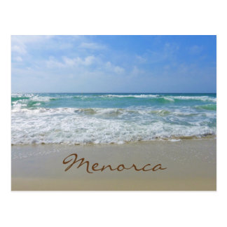 Menorca Beach and Sea Postcard