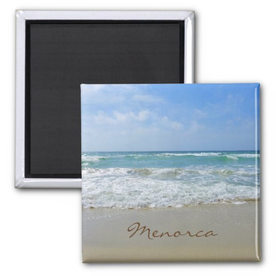 Menorca Beach and Sea Souvenir Square Magnet
