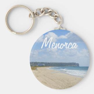 Menorca Beach of Son Bou Souvenir Basic Round Button Key Ring