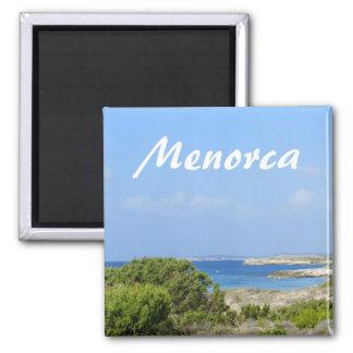 Menorca Coast Souvenir Square Magnet