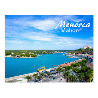 Menorca Port of Mahon Postcard
