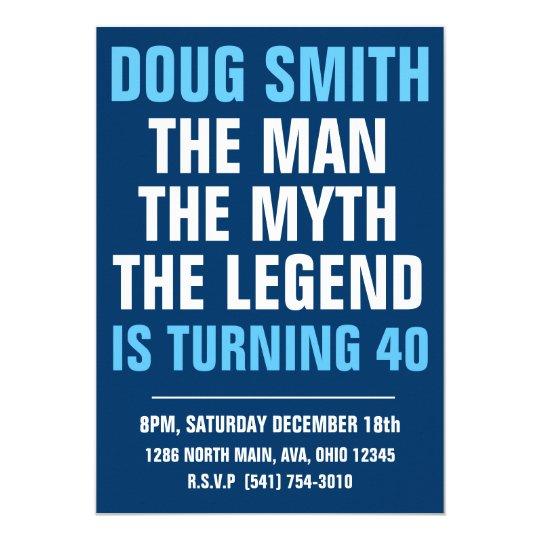 Mens 30th 40th 50th 60th Birthday Party Invitation Zazzle Co Uk