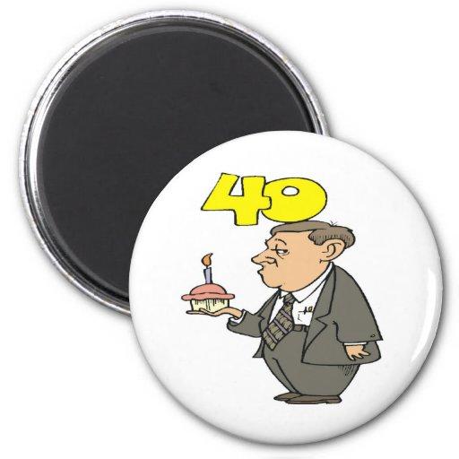 Mens 40th Birthday Gifts Refrigerator Magnet
