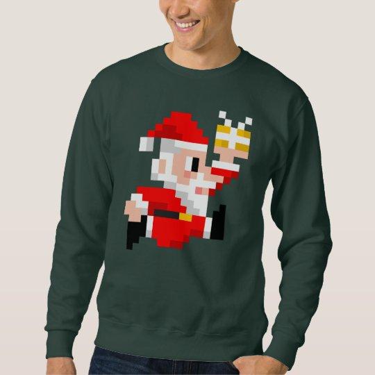 Men's 8-Bit Santa Claus Ugly Christmas Sweatshirt