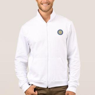 Mens American Apparel California Fleece Zip Jogger Jacket