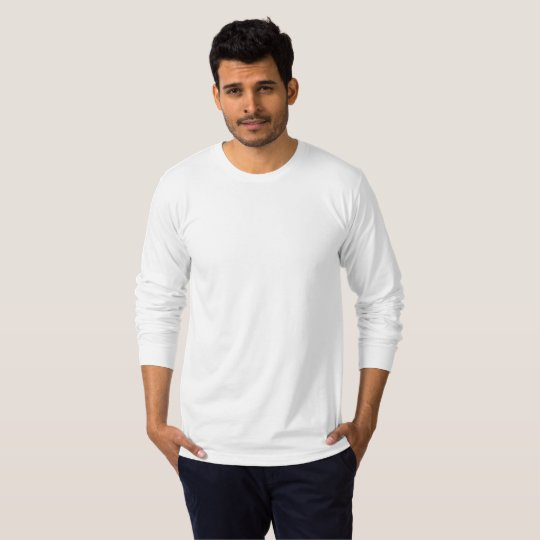 Men's American Apparel Fine Jersey Long Sleeve T-Shirt, White