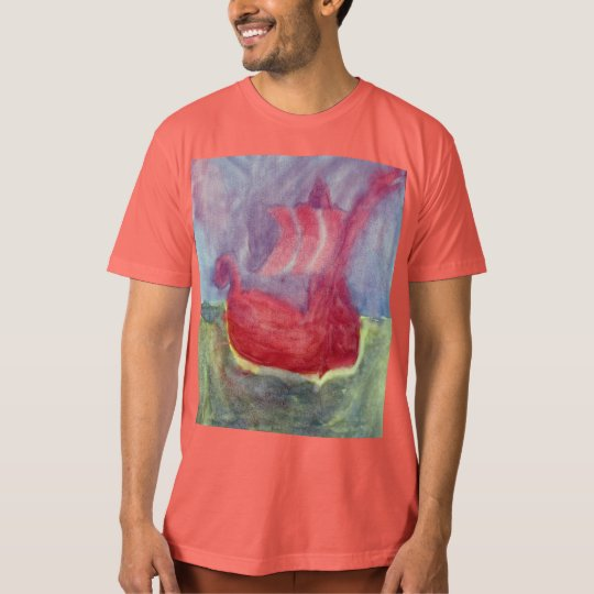 Men's American Apparel Organic T-Shirt Viking Ship