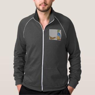 Men's American apparel track jacket w/ dog and vet