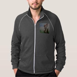 Men's American apparel track jacket w/stray dog