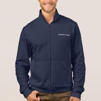 men's American apparel zip jogger printed jacket