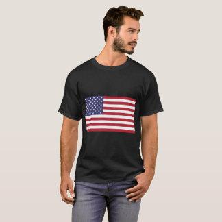 Men's American Flag Basic Dark T-Shirt