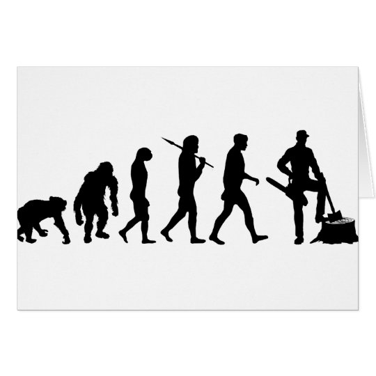 Mens and womens Lumberjack forestry work Greeting Card