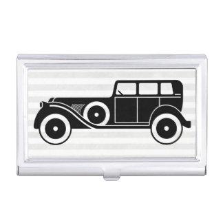 Men's Antique Car Limousine Monogram Business Card Holder
