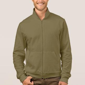 Men's Apparel Fleece Zip Jogger Jacket Army Brown