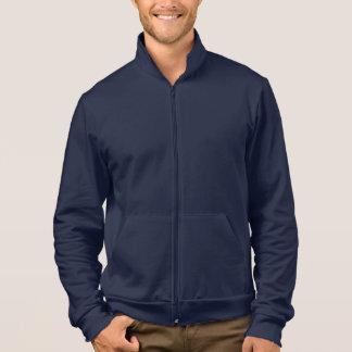 Men's Apparel Fleece Zip Jogger Jacket Navy Blue