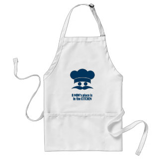 """Mens' Apron: """"A Man's Place is in the Kitchen"""" Standard Apron"""