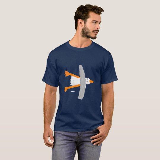 Mens Art T-Shirt: Classic Seagull by John Dyer