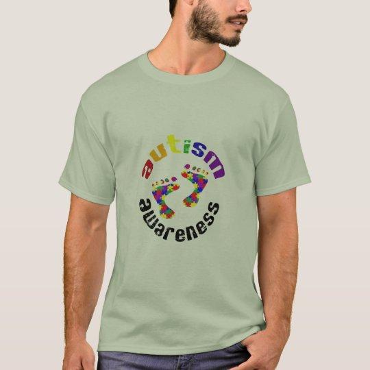 Mens Autism Awareness Footprints T T-Shirt