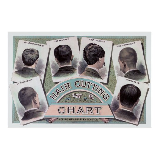 Pleasant Mens Barber Shop Hair Style Chart 1884 Zazzle Co Uk Schematic Wiring Diagrams Amerangerunnerswayorg