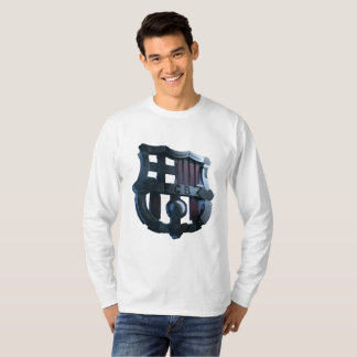 Mens Barcelona Metal Crest Longsleeve T-Shirt