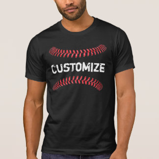 Men's Baseball Stitches Four Seam Fastball T-Shirt