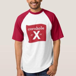 Men's Baseball T Red Cornhole T-Shirt
