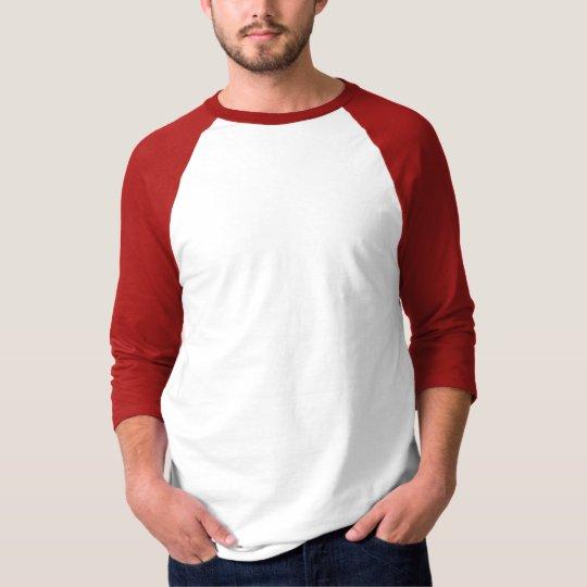 Men's Basic 3/4 Sleeve Raglan T-Shirt White Red