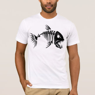 Men's Basic American Apparel T-Shirt/Fish Skeleton T-Shirt