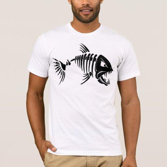 Men's Basic American Apparel T-Shirt/Fish Skeleton T-Shirt
