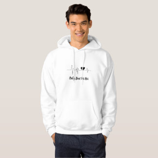 Men's Basic Heartbeat Hooded Sweatshirt