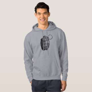 Men's Basic Hooded Sweatshirt Hand Grenade