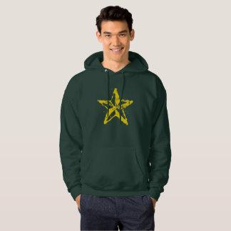 Men's Basic Hooded Sweatshirt Used Red Star