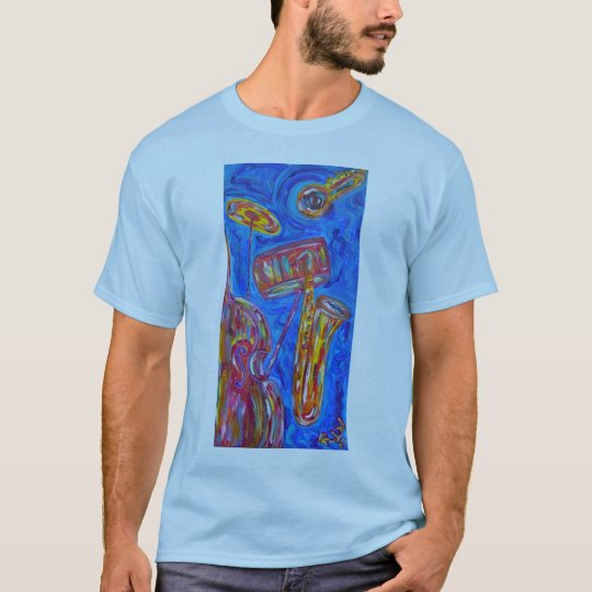 Men's Basic T -Shirt -Cool Blue Jazz T-Shirt