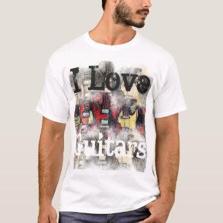 Men's basic T-Shirt, I LOVE GUITARS T-Shirt