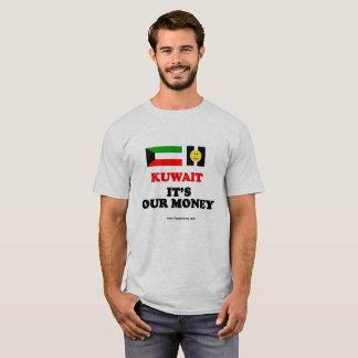 Men's basic t-shirt KUWAIT, IT'S OUR MONEY
