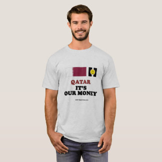 Men's basic t-shirt QATAR, IT'S OUR MONEY