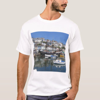 Men's Basic T-Shirt With Brixham Harbour Picture
