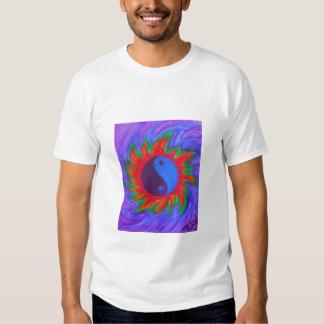 Men's basic tee shirt - yin & yang vibrations