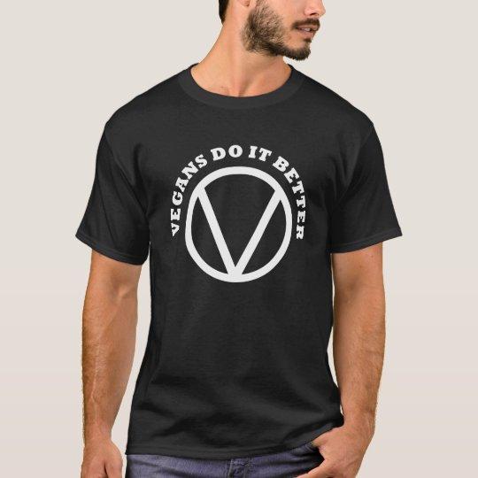Men's Basic Vegans Do It Better Black T-Shirt