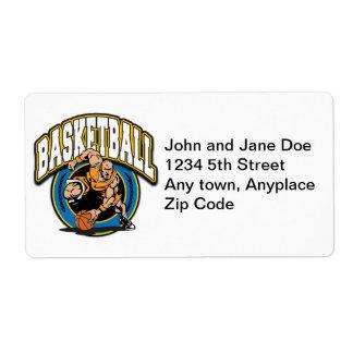 Men's Basketball Logo Shipping Label
