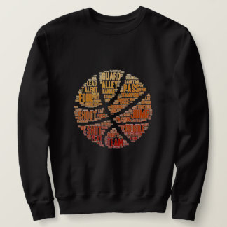 Mens Basketball Sports Game Sweatshirt Black