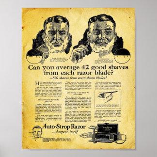 Mens Bathroom Print - Auto Strop Razor