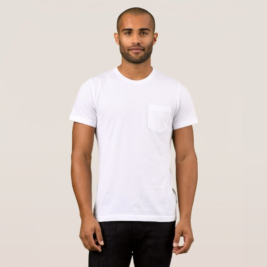 Bella+Canvas Pocket T-Shirt, White/White