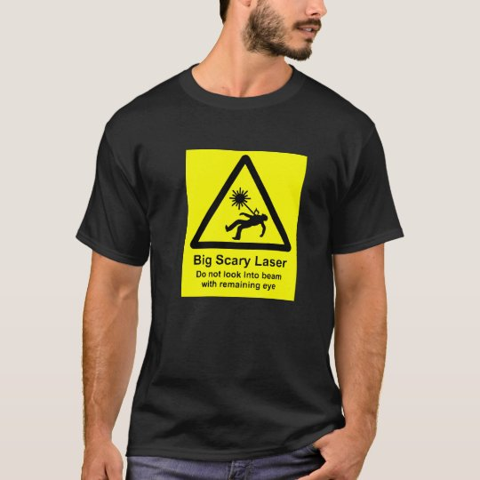 Mens Big, Scary Laser T-Shirt