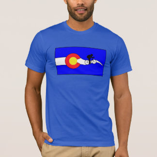 Men's bike colorado flag t-shirt