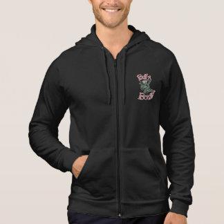 Men's Black BXB Skull Logo Zipper Hoodie