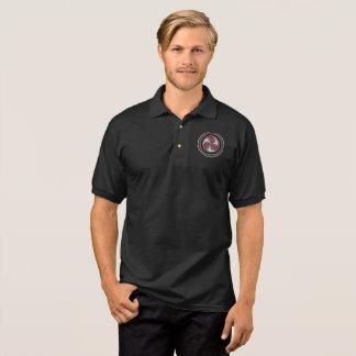 Men's black cotton polo